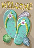 Welcome Flip Flop Garden Flag