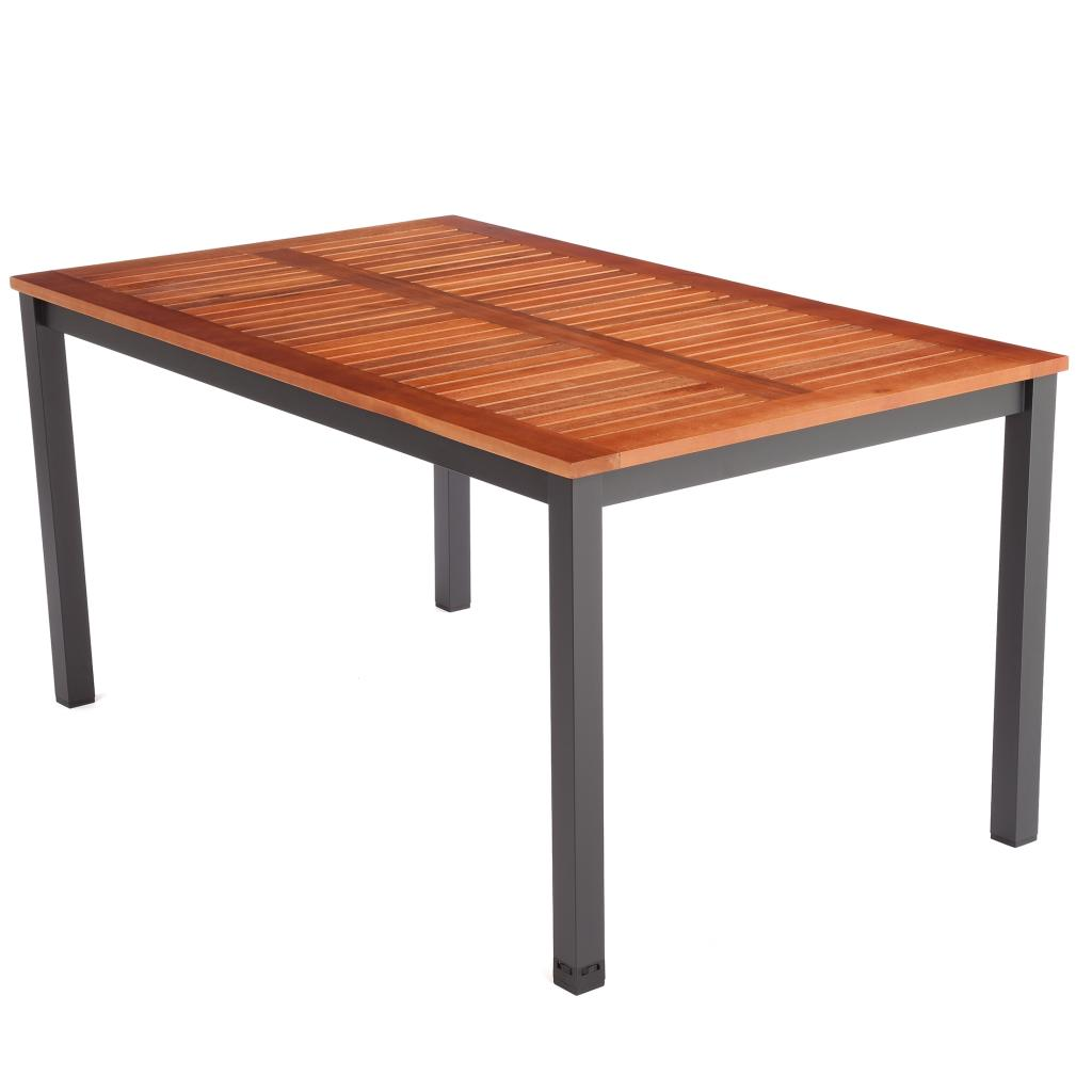 Ultranatura table en bois et aluminium gamme palma 150 for Table en aluminium exterieur