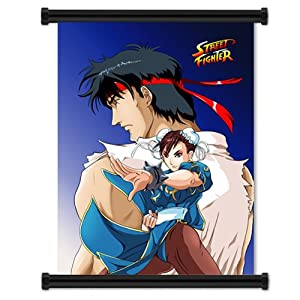 Amazon.com: Street Fighter: Ryu and Chun Li Cloth Wall Scroll ...