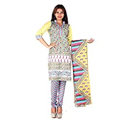 RangoliSF Woman's Cotton Unstitched Dress Material (RSFT1017 Purple)