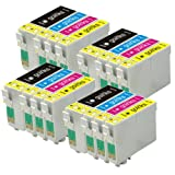 4 Compatible Sets of 4 XL Printer Ink Cartridges to replace T1306 (16 Inks) - Black / Cyan / Magenta / Yellow for use in Epson Stylus Office B42WD, BX525WD, BX535WD, BX625FWD, BX630FW, BX635FWD, BX925FWD, BX935FWD, SX525WD, SX535WD, SX620FW & Workforce W