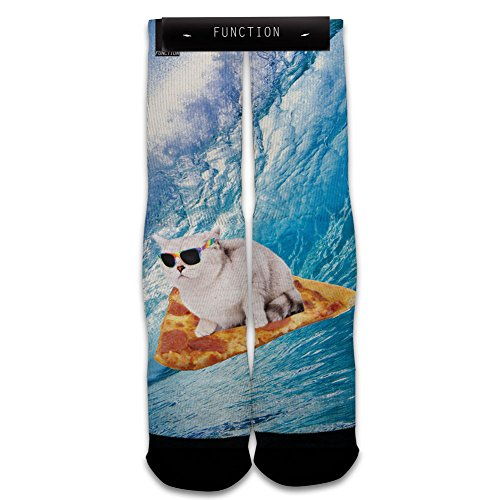 Function - Pizza Cat Surfing Sublimated Sock