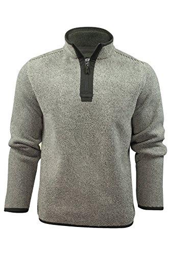 mens-over-head-zip-jumper-by-kensington-eastside-with-bonded-micro-fleece-lining-cream-l