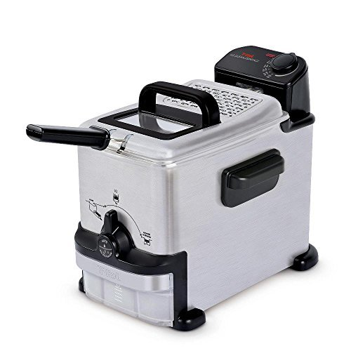 T-fal 1.8-Liter EZ Clean Deep Fryer with Integrated Oil Filtration, FR702D, Stainless Steel (Certified Refurbished) (Deep Fryer Ez Clean compare prices)