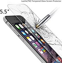 iPhone 6s Plus Screen Protector, LaoHe(TM) Premium Tempered Glass Screen Protector Film for Apple iPhone 6 Plus and iPhone 6s Plus Newest Model 5.5-(1Pack)