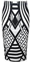 Vip Women's Monochrome Weaved Pencil Midi Skirt