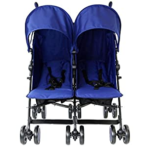 Zeta Citi TWIN Stroller Buggy Pushchair - Navy (Blue Dark) Double Stroller from Baby TravelTM