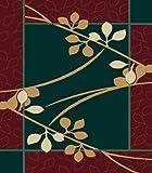 Contemporary Area Rug, United Weavers Manhattan 2'x3' Brentwood Hunter Green