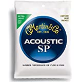 Martin MSP3000 SP 80/20 Bronze Acoustic Guitar Strings, Extra Light