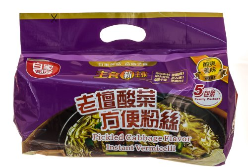 Baijia Instant Noodles, Pickled Cabbage Flavor, 19.4 Ounce (Pickled Cabbage Chinese compare prices)