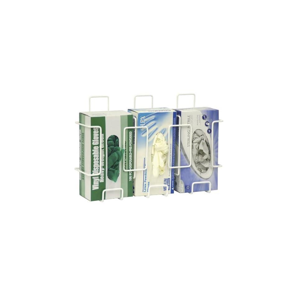 Omnimed Triple Glove Box Holder (305380)   White Powder Coated Steel Wire   2 per pack