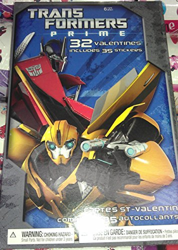 American Greetings Transformers Valentines Day Trading Cards Set, 32 Included + More!