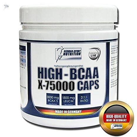 German Sport Nutrition HIGH - BCAA X-75000 Caps 330 BCAA's Kapseln