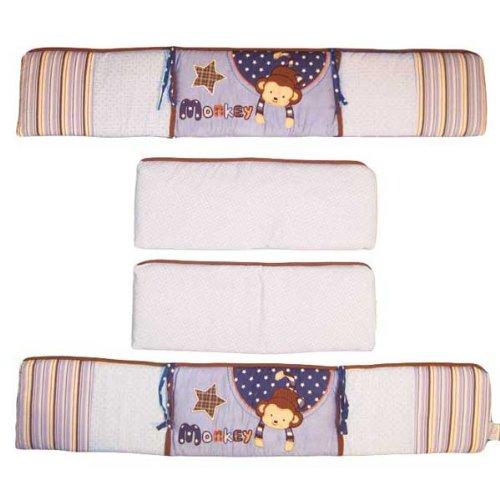 Monkey Crib Bumper front-558631