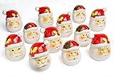 Christmas Decorative Ceramic Toothpicks Holders 12 pcs set Santa Claus Themed