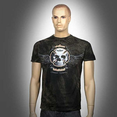 T-Shirt originale con Alchemy England-UL13Industries, Skull, S-2x l, nero, M
