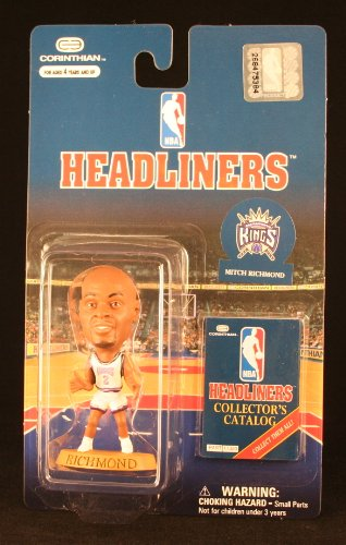 MITCH RICHMOND / SACRAMENTO KINGS * 3 INCH * NBA Headliners Basketball Collector Figure - 1