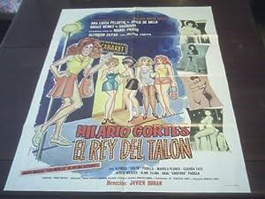 Original Mexican Movie Poster Hilario Cortes El Rey Del Talon Alfonso