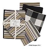 Park Designs Kitchen Concepts Towel Gift Set Surrey Black & White & Gold