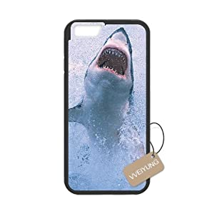 Diy Customized Cell Phone Case for Scary Shark Black iphone 7 Hard Back Cover Shell Phone Case (Fit: iphone 7)
