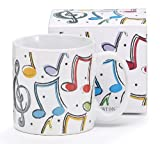 Colorful Music Notes Cover 13oz Ceramic Mug