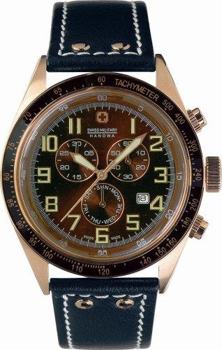 SWISS MILITARY (スイスミリタリー) 腕時計 ML/254 ナビゲーター ブラウン文字版 レザーベルト メンズ