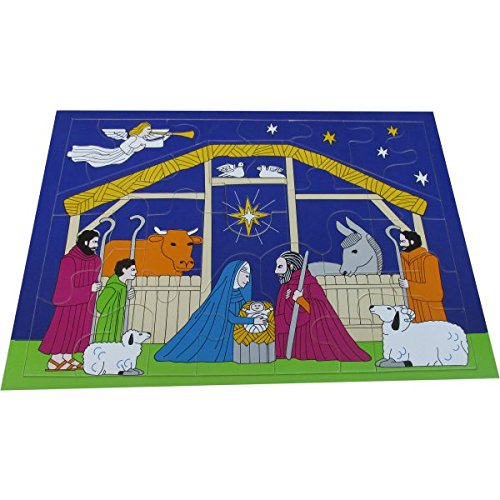 Wooden Christmas Nativity Scene 32 Piece Jigsaw  Puzzle for Kids