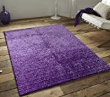 ~5 Ft. X 7 Ft. Lavender Shaggy Area Rug, Hand-tufted with Free Rug Pad Included