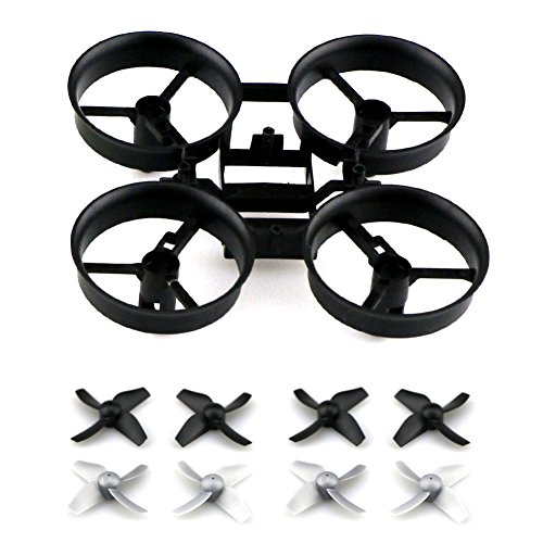 Kayau-Propellers-Props-with-Frame-for-JJRC-H36-Eachine-E010-Blade-Inductrix-Micro-Drone-Spare-Parts-BlackGrey