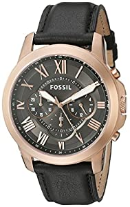 Fossil Men's FS5085 Grant Analog Display Analog Quartz Black Watch
