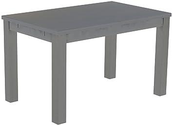 Brasil mobili tavolo da pranzo 'Rio classico' 130x 80cm, in legno massello di pino, tonalità seta grigio