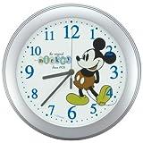 Disney (ディズニー) 掛け時計 DIC-5006-MK ミッキー・マウス シルバー スィープ