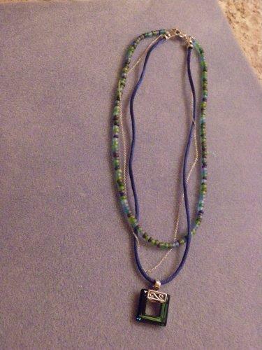 Blue Bermude Necklace