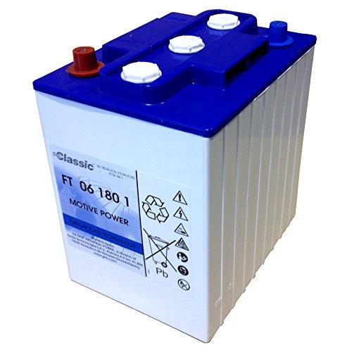 EXIDE-Classic-FT6-180-1-Batterie-6-Volt-180-AH-BlockbatterieNass-mit-RhrchenplattenPanzerplatte
