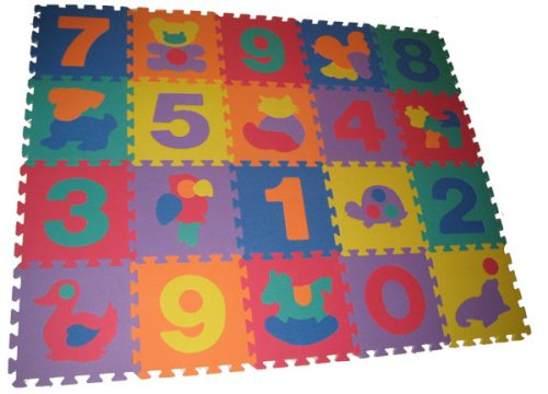 Picture of SoftnSafe EVA Foam Number & Animal Mat (B001KYN67E) (Puzzle Play Mats)