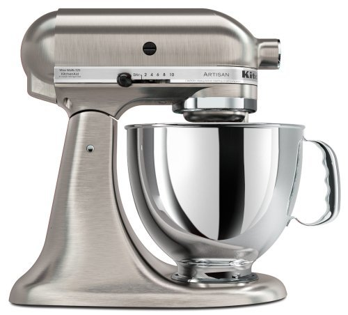 Bundle 2 Items: Kitchen Aid 5KSM150, Acucraft Acupwr Plug Kit, Brushed Nickel, Heavy Duty Stand Mixer, Works in 183 Countries, 220-volt (Kitchen Aid Stand Mixer Bundle compare prices)