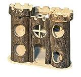 Maxipet Castello per criceti in legno naturale 12x17x15 cm