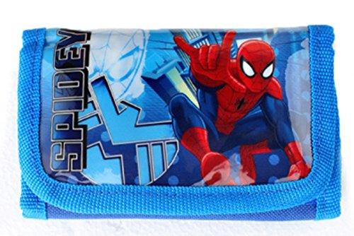 Spiderman miniportafoglio - dotata di scomparto portamonete - soldi Custodia - port sopportano MO sopportano no (u029)
