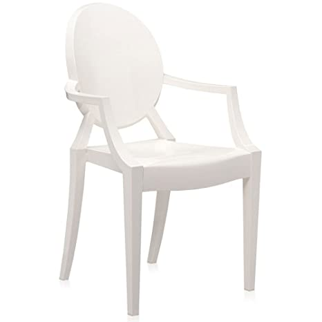 Kartell Louis Ghost silla - blanco brillante
