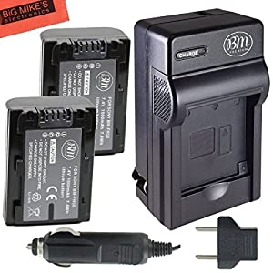 Sony CyberShot DSC-HX1 DSC-HX100V DSC-HX200V HDR-TG5V A100 Digital Camera Battery And Charger Kit Includes Qty 2 NP-FH50 Batteries + Battery Charger + LCD Screen Protectors + Micro Fiber Cleaning Cloth
