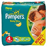 Pampers Windeln Baby Dry Gr.4 Maxi 7-18kg Monatsbox, 174 St�ck