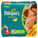 Pampers Windeln Baby Dry Gr.4 Maxi 7-...