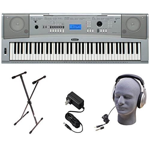Yamaha Dgx-230 Keyboard Bundle, 76 Keys - Includes Professional Headphones, Keyboard Stand, And Power Supply