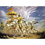 Tallenge - Krishna As Parthasarathi, The Chariot-driver Of Arjuna In Bhagavad-Gita - A3 Size Rolled Poster
