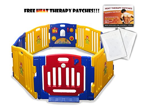 New Baby Kids Safety Playpen 8 Panel Play Center Home Indoor Playzone Yard Outdoor Pen front-24722