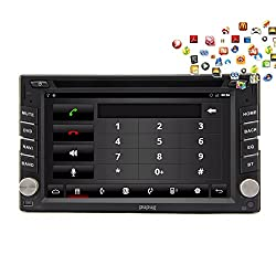 See Pupug Android 4.2 Double Din Car DVD Player GPS navigation Bluetooth wifi 3G 6.2 Inch Capacitive screen RDS Auto Radio Video Audio Stereo In Dash Head Unit PC Details