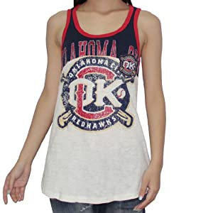 PCL Oklahoma City RedHawks Ladies Tank Top (Vintage Look) by PCL