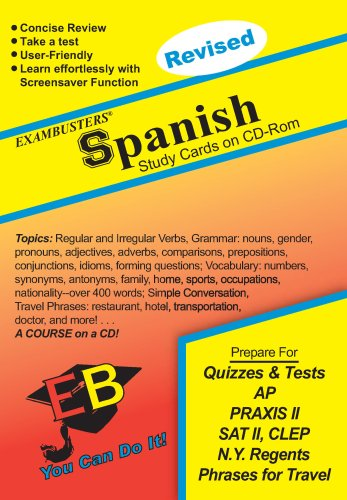 Spanish Exambusters CD-ROM Study Cards: Exam Prep Software on CD-ROM!