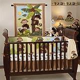 Bedtime Originals Curly Tails 4 Piece Bedding Set