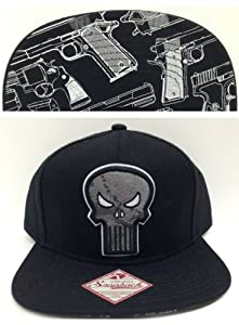 Black Punisher Arsenal Snapback Hat Cap Marvel Comics by Marvel
